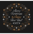 Merry Christmas Happy New Year minimalistic card vector image