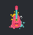 mexican guitar icon flat style isolated on dark vector image