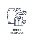 office dresscode line icon concept office vector image vector image