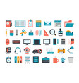 office supplies set of business and office icons vector image vector image