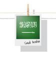 photo of saudi arabia flag vector image