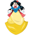 Princess Snow White In Blue Yellow Dress vector image vector image