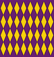 purple and yellow argyle harlequin seamless patter vector image vector image
