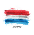 realistic watercolor painting flag of luxembourg vector image vector image