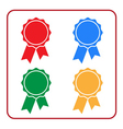 Ribbon award icons set 1 vector image vector image