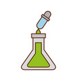 school test tube and dropper liquid science vector image vector image