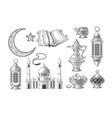 set muslim icons vector image