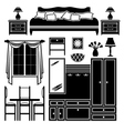 Set of icons of furniture vector image vector image