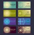 Set of templates for corporate style in vector image vector image