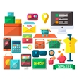Shopping Related Objects Set vector image vector image