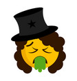 sick magician emoji with a hat vector image