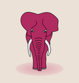 silhouette of an elephant vector image vector image