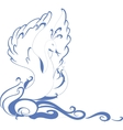 Swan floating on the waves EPS10 vector image vector image