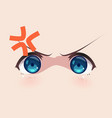 the real eyes of anime manga girls vector image