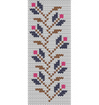 Traditional hand craft Flowers knitting pattern vector image
