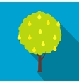 Tree icon with shadow vector image