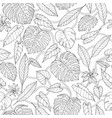 tropical seamless pattern with lianas monstera vector image vector image
