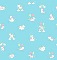 unicorn rainbow seamless pattern print decor vector image