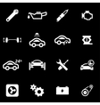 white car service icon set vector image vector image
