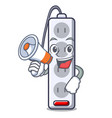 with megaphone power strip in the character shape vector image vector image