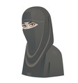 woman in niqab vector image vector image