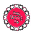 women day label vector image vector image