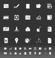 Writing related icons on gray background vector image