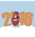 Year of the Monkey Beautiful hand drawn monkey vector image vector image
