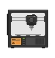 3d Printer on White Background vector image