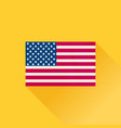 america flag american icon flat design vector image