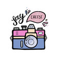 a retro photo camera vector image