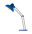 A standard lamp is placed vector image vector image