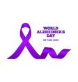 alzheimer disease world day dementia purple vector image
