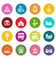 amusement park icons set colorful circles vector image vector image