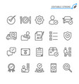 approve line icons editable stroke pixel perfect vector image