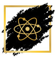 atom sign golden icon at vector image vector image