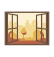 Autumn View of the Open Window vector image vector image