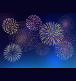 background with colorful fireworks vector image vector image