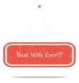 Best wife vector image