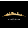 Birmingham England city skyline silhouette vector image vector image