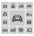 black auto icon set vector image