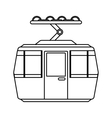 cableway transport isolated icon vector image