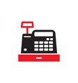 cash register machine - icon on white background vector image