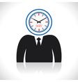 clock men head vector image vector image