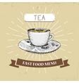coffee fast food in vintage vector image vector image