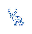 cute cow line icon concept cute cow flat vector image vector image