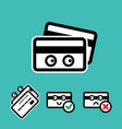 cute credit card icon set vector image vector image