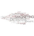 detection word cloud concept vector image vector image