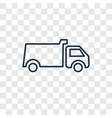 dump truck toy concept linear icon isolated on vector image