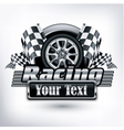 Emblem races checkered flag vector | Price: 1 Credit (USD $1)